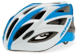Fahrradhelm Alpina Vector (Größe: 53-57 cm, 15 weiß/blau)