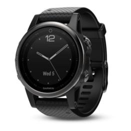 Garmin fenix 5S Sapphire schwarz Armband schwarz