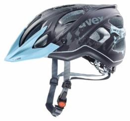 uvex Stiva cc Damen Fahrradhelm (Größe: 52-57 cm, 04 black/flower/blue mat)